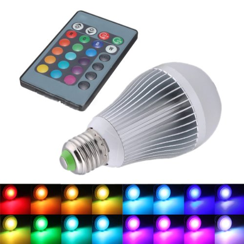 ordre sodial r changement de 12w e27 16 couleur ampoule rgb led lampe 85 265v telecommande. Black Bedroom Furniture Sets. Home Design Ideas