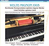 Welte-Mignon 1905 - Famous Pianists Playing Chopin (Teldec)