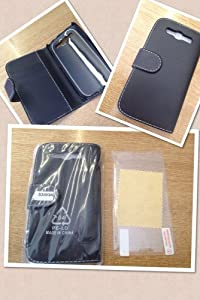 Samsung Supergets Buch-Stil imitat Ledertasche für Samsung Galaxy S3 schwarz