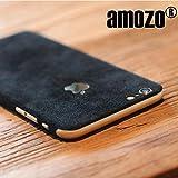 #3: amozo® Decorative Protective Film Suede Skin Case Cover for Apple iPhone 6 Plus / 6S Plus (Black)