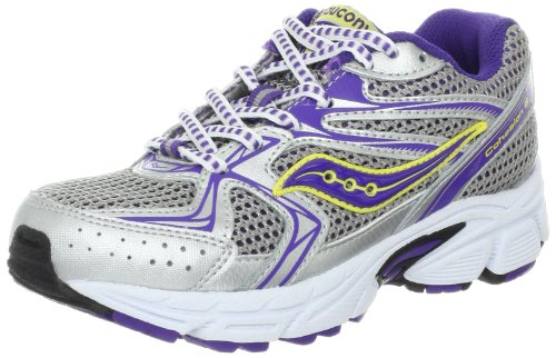 517P FwV7LL Saucony Girls Cohesion 6 LTT Running Shoe (Little Kid/Big Kid),Silver/Purple,2.5 M US Little Kid