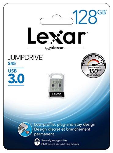 Lexar JumpDrive S45 - Memoria USB 3.0 de 128 GB - LJDS45-128ABEU