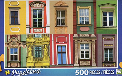 Colorful Windows - 500 Pc Jigsaw Puzzle Puzzlebug + Free Bonus 2015 Magnetic Calendar