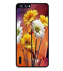 PRINTSWAG FLOWERS Designer Back Cover Case for HUAWEI HONOR 6 PLUS