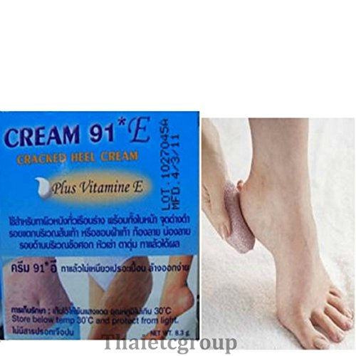 Cream 91 E For Cracked Heels Plus Vitamin E Stretchmark ***Ship From Usa
