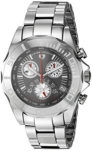 Swiss Legend Men's 'Pro' Quartz Stainless Steel and Tungsten Casual Watch, Color:Grey (Model: T8010-14)