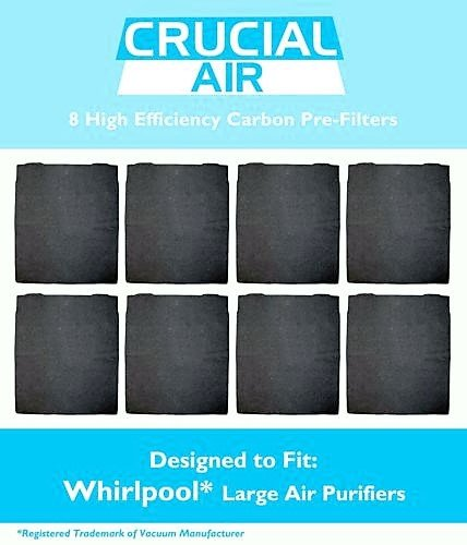 8 Crucial Air Air Purifier Carbon PreFilter Whirlpool AP300 AP350 AP450 8171434K - Designed To Clean Your Air By Removing Pollutants And Other Harmful Particles.