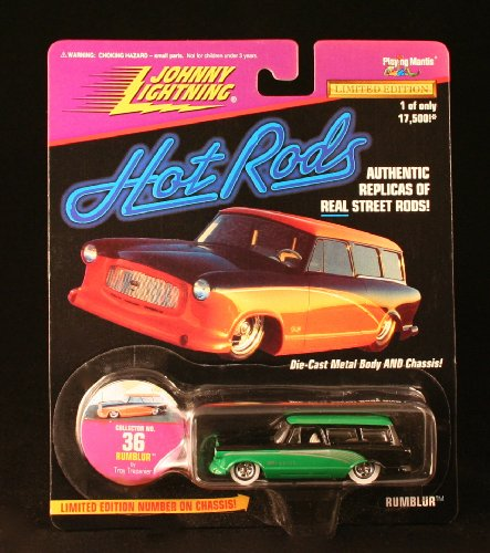 RUMBLUR * GREEN * Johnny Lightning 1997 HOT RODS Release Four 1:64 Scale Die Cast Vehicle