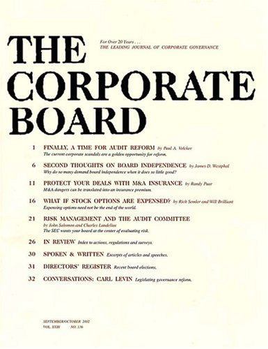 Corporate Board - the Journal Corporate Governance