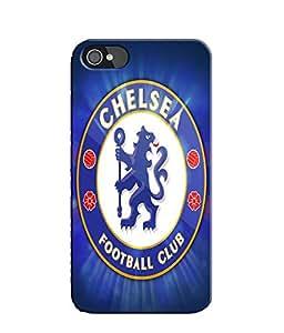 EU4IA Chelsea Logo Pattern MATTE FINISH 3D Back Cover Case For iPhone 4s - D348