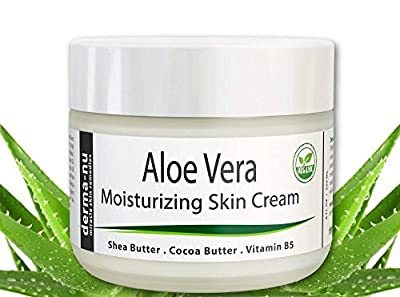 Derma-nu - Aloe Vera Natural Skin Cream - Best Remedy Skin Repair Cream - Dry Skin Treatment for Face & Body - Treatment for Psoriasis and Eczema Therapy - Non-greasy and Fast Absorbing