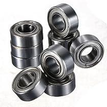 10PCS Miniature Rubber Sealed Metal Shielded Metric Radial Ball Bearing Model Multi-Size Choice +Free Shipping