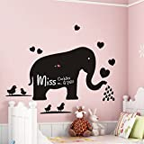 ORDERIN Cyber Monday Wall Decal Blackboard Teach Sticker Big Elephant Removable Mural Wall Stickers Art for Children Nursery Home Decor