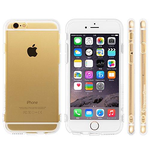 Highend berry iPhone 6 Plus 5.5インチ 落下防止 用 ストラップ ホール 保護キャップ 一体型 ソフト TPU ケース クリア