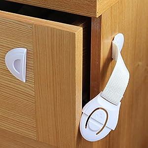 DEHANG Cierre de seguridad Bloqueo de seguridad para armarios cajones puertas electrodomésticos Productos de seguridad para bebés niños marca DEHANG en BebeHogar.com
