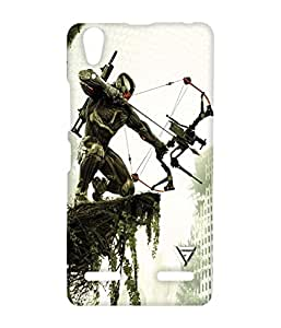 Vogueshell Battlefield Printed Symmetry PRO Series Hard Back Case for Lenovo A6000