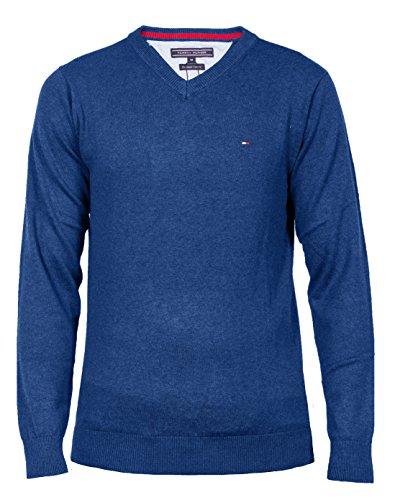 Tommy Hilfiger Vneck Pullover Für Herren , Größe:M;Farbe:Classic