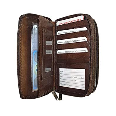 Womens Credit Card Check Book Cash ID Brown Wallet