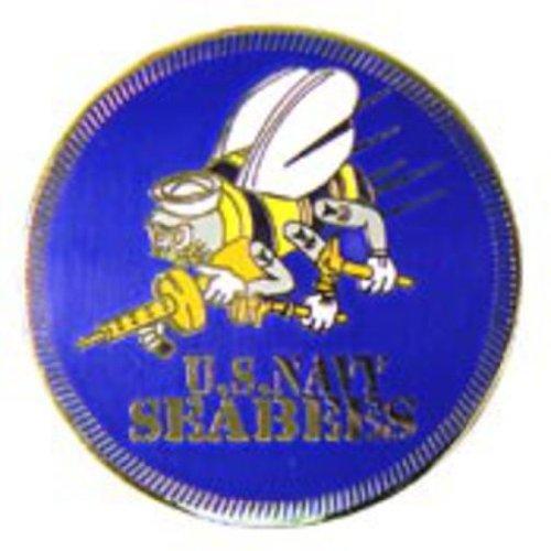 U.S. Navy Seabees Logo Pin 1 1/2