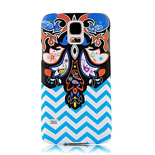 S5 Case, Galaxy S5 Case - Mollycoocle Fashion Style Colorful Painted Pattern Pc Hard Cover Case For Samsung Galaxy S5 I9600 Sm-G900A Sm-G900T Sm-G900P Sm-G900V Sm-G900R4 Developer Edition(Ripple)