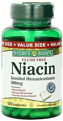 Nature's Bounty Flush Free Niacin 500 Mg, 120-Count
