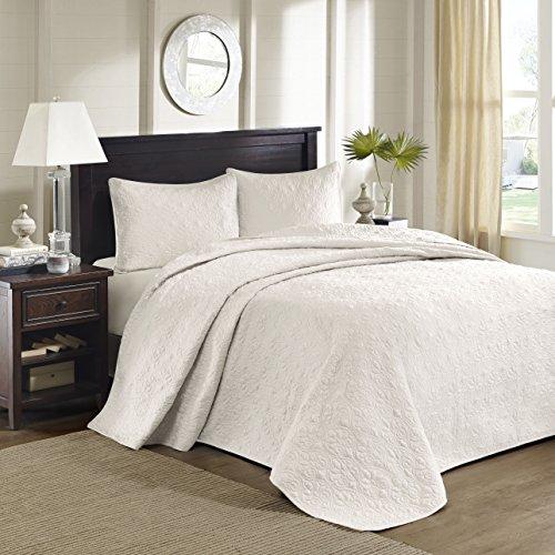 Madison Park Quebec 3 Piece Bedspread Set, King, Ivory