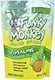 Funky Monkey Snacks JiveALime, Pineapple with Lime, Freeze-Dried Fruit, 1-Ounce Bags (Pack of 12)