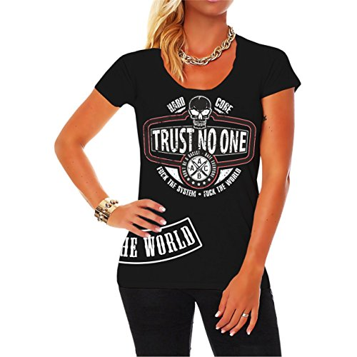 Donne e T-shirt da donna TRUST NO ONE Vert rigoriste nessuno