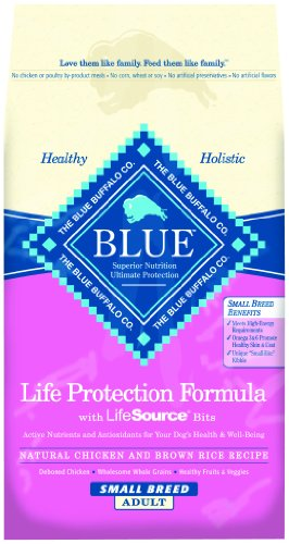 Blue Buffalo Dry Food for Small Breed Dogs, Chicken and Rice Recipe, 15-Pound Bag