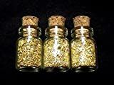3 0.5 ml Glass Jars Of 24k Gold Flakes