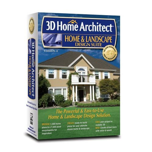 3d home architect home and landscape design suite version 8 software