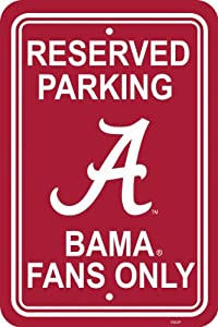Alabama Crimson Tide parking sign