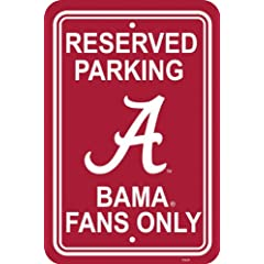 Buy NCAA Alabama Crimson Tide 12-by-18 inch Plastic Parking Sign by BSI