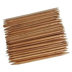 15 Sizes Bamboo Handle Carbonized Knitting Needle