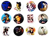 Elvis Presley (2) Awesome Quality Lot 12 New Pins Pinback Buttons Badge 1.25