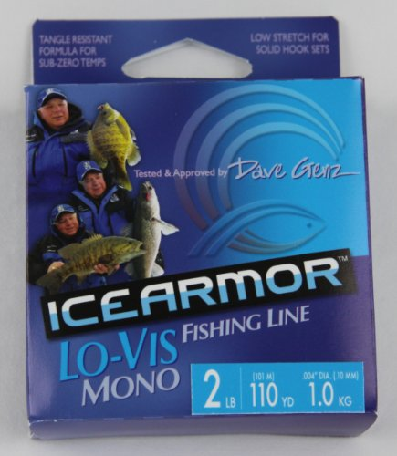 Fishlander fishing line clam dave genz low for Ice fishing line