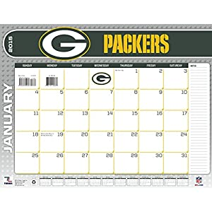 Turner Perfect Timing 2015 Green Bay Packers Desk Calendar, 22 x 17 Inches (8061448) by Lang Holdings, Inc.