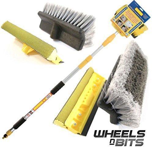 wnb-3m-98ft-aluminium-telescopic-water-fed-window-car-van-wash-brush-extendable