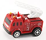 Perfect Life Idea Fire Engine Vehicle Puzzle Track Play Set - Battery Operated Toy Themed Style Vehicle Runs on Interchangeable Puzzle Tracks - Make up to 50 Track Combinations
