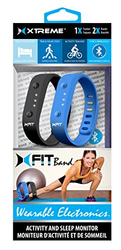 Xtreme X-Fit Fitness Band - Retail Packaging - Black/Blue
