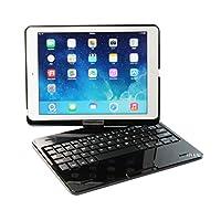 【HAIKAU】 iPad Air 用 ノートブック型 bluetoothキーボード内蔵ケース 【USキーボード】 日本語入力可 日本語操作説明書付き ブラック