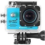 """Action Kamera von icefox ® Wasserdichte Wi-Fi Action-Kamera mit 12 MP, 1080P, HD 2.0"""" LCD, Taucherhelm, Sportwagen-Kamera mit kostenlosem Accessories-Kit"""