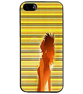 PrintDhaba Cool Girl D-5637 Back Case Cover for APPLE IPHONE 5S (Multi-Coloured)