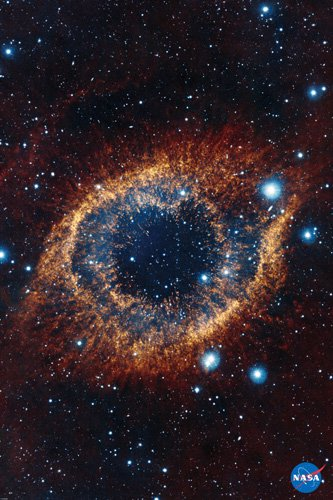 Helix Nebula Poster Hubble Telescope Image Space Astrology Nasa Rare Hot New 24X36