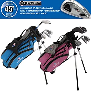 US Kids ULTRALIGHT 45 4-Club Carry Bag Set (Left Hand) by US Kids