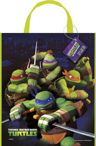 """Large Plastic Teenage Mutant Ninja Turtles Favor Bag, 13"""" x 11"""" - 1"""