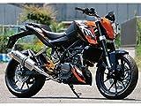 WR'S:リヤエキゾースト(スリップオン) JMCA認証マフラー チタンオーバル(ソリッド) KTM'13 125/200DUKE用