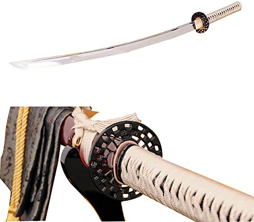 Lyuesword Handmade Japanese Samurai Sword Katana 1060 High Crabon Steel Very Sharp Blade