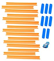 Hot Wheels Track Builder Straight Track Includes 15 Feet of Track and a Bonus Car