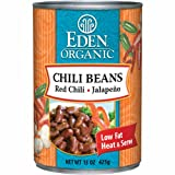 Eden Organic Chili Beans with Red Chili and Jalapeno, 15-Ounce Cans (Pack of 12)